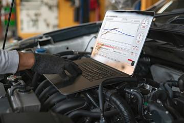 diagnostyka komputerowa silnika samochodu